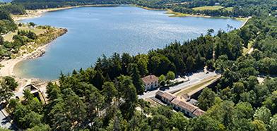 Photo lac  drone